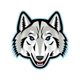 Wolf Head Front Mascot Artic illustration de vecteur