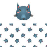 Wolf Head Icon And Pattern Stock Photo
