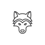 Wolf head line icon, outline vector sign Royalty Free Stock Image