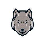 Wolf Head Logo Royaltyfri Bild
