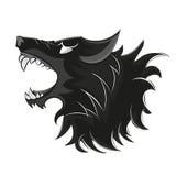 Wolf head logo. Bad wolf logo black and white illustration vector illustration