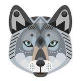 Wolf Head Logo Emblème décoratif de vecteur Photographie stock libre de droits