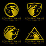 Wolf Head Logo Golden Version Stock Photography