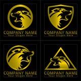Wolf Head Logo Golden Version Stock Photography