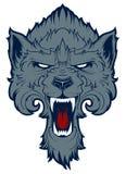 Wolf head logotype. Team mascot. Royalty Free Stock Image