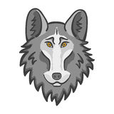 Wolf head mascot. Good cartoon wolf Royalty Free Stock Images