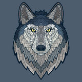 Wolf head mascot mosaic isolated Royalty Free Stock Photo