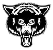 Wolf head mascot Royalty Free Stock Image