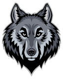 Wolf head mascot Stock Photography