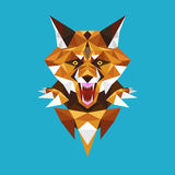 Wolf head polygon geometric, Vector illustration Royalty Free Stock Photos