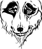 Wolf head portrait illustration Royalty Free Stock Photography