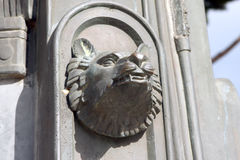 Wolf head Rome Italy. Wolf head sculpture Rome Italy royalty free stock images