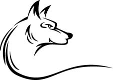 Wolf head tattoo. Vector illustration of wolf head tattoo Royalty Free Stock Photos