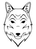 Wolf Head Tattoo Stock Image