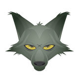 Wolf head vector clipart Royalty Free Stock Images