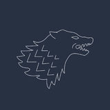 Wolf Head Vector graphhics Abstract Pictogram Stock Foto's