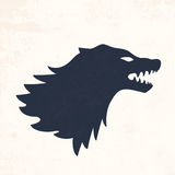 Wolf head. Vector illustrations. Abstract background with grunge texture Royalty Free Stock Photo