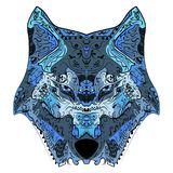 Wolf head zentangle stylized vector illustration. Hand drawn pattern. Zen art. Ornate vector Royalty Free Stock Photos