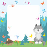 Wolf and hedgehog background Royalty Free Stock Image