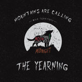 Wolf howling at the moon. Vintage label.Wolf howling at the moon.Typography design for t-shirts Royalty Free Stock Photos