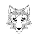 Wolf  icon. Animal and Ornamental predator design. Vector graphi Royalty Free Stock Images