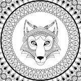 Wolf  icon. Animal and Ornamental predator design. Vector graphi Stock Images