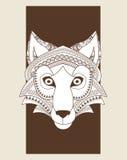 Wolf  icon. Animal and Ornamental predator design. Vector graphi Stock Photos