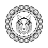 Wolf icon. Animal and Ornamental predator design. Vector graphic Royalty Free Stock Photo