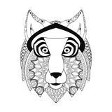 Wolf icon. Animal and Ornamental predator design. Vector graphic Royalty Free Stock Photography