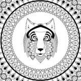 Wolf icon. Animal and Ornamental predator design. Vector graphic Stock Photo