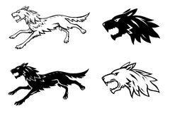 Wolf illustration Stock Images