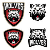 Wolf illustration. Angry Wolves, sport club or team emblem  Royalty Free Stock Images