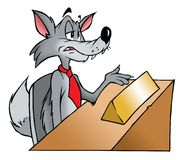 Wolf interview stock photos