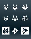 Wolf Logo Arkivbild
