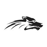 Wolf logo Royalty Free Stock Images