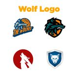 Wolf Logo Template Photos stock