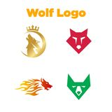 Wolf Logo Template Photo libre de droits