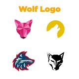 Wolf Logo Template Royalty Free Stock Photos