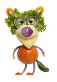Wolf made of vegetables Stock Images