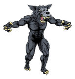 Wolf man with claws out Stock Photography