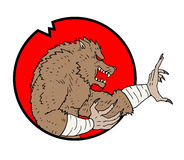 Wolf man icon Royalty Free Stock Images