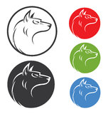 Wolf mascot Royalty Free Stock Photography