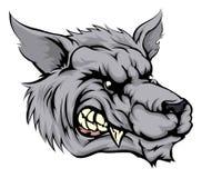 Wolf mascot character Royalty Free Stock Image