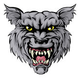 Wolf mascot character. An illustration of a fierce wolf animal character or sports mascot Stock Images