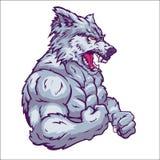 Wolf mascot illustration Stock Photo
