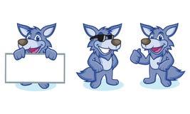 Wolf Mascot Vector felice Fotografia Stock Libera da Diritti