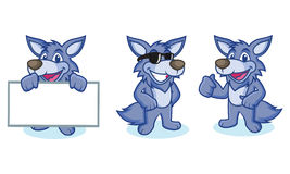 Wolf Mascot Vector happy Royalty Free Stock Photo