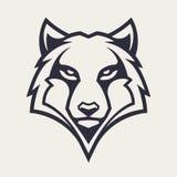 Wolf Mascot Vector Icon illustrazione di stock