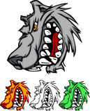 Wolf Mascot Vector Logo Stock Image