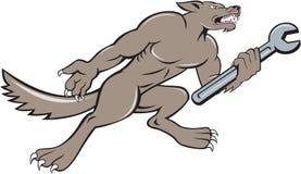 Wolf Mechanic Spanner Isolated Cartoon Stock Photography